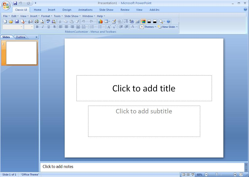 Using Powerpoint 2007